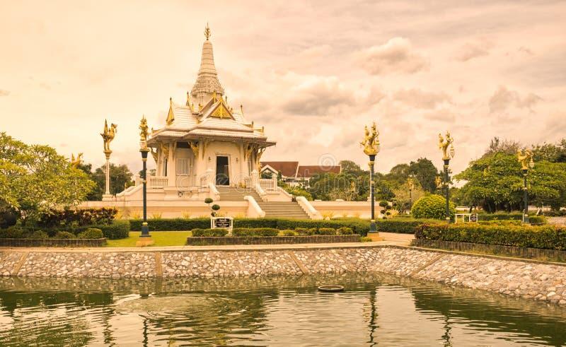 Santuario della colonna della città di Yala, a sud della Tailandia fotografia stock