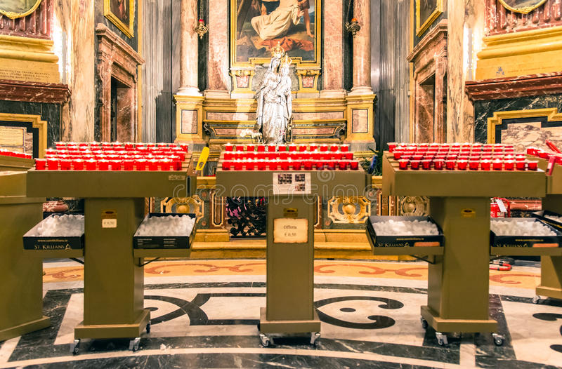 Santuario della Consolata,都灵内部  免版税库存照片