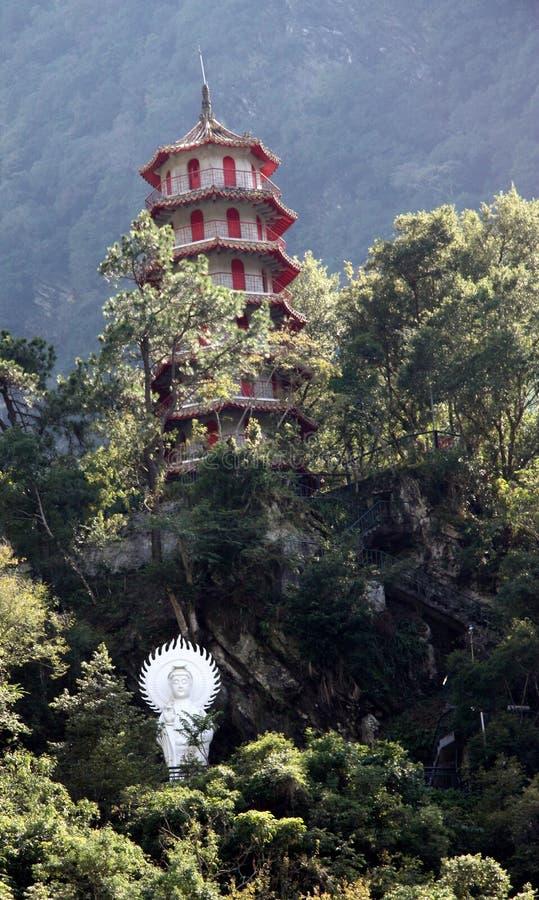 Santuario della pagoda e di Buddha della gola di Taroko in Taiwan immagine stock libera da diritti