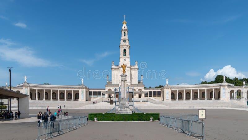 Santuario di Fatima, Portogallo Una posizione importante di pellegrinaggio e di Marian Shrines nel mondo per i cattolici immagine stock