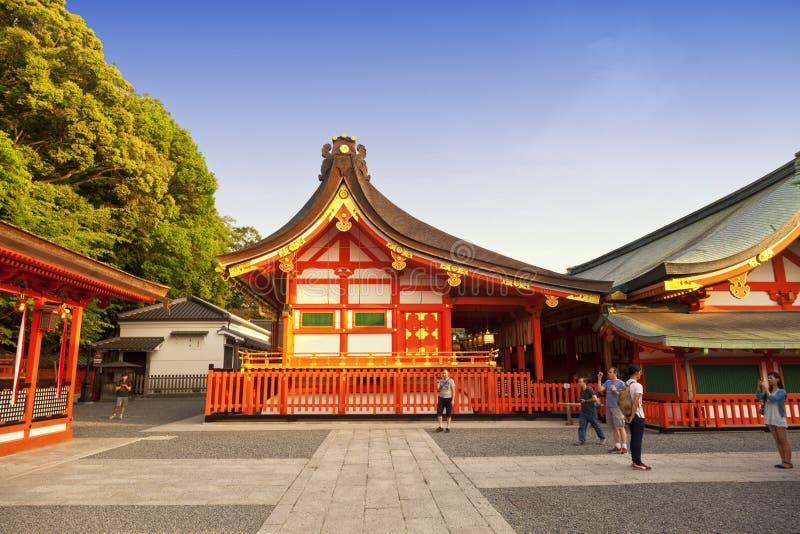 Santuario di Fushimi Inari, uno dei punti di riferimento famosi a Kyoto, il Giappone fotografia stock libera da diritti