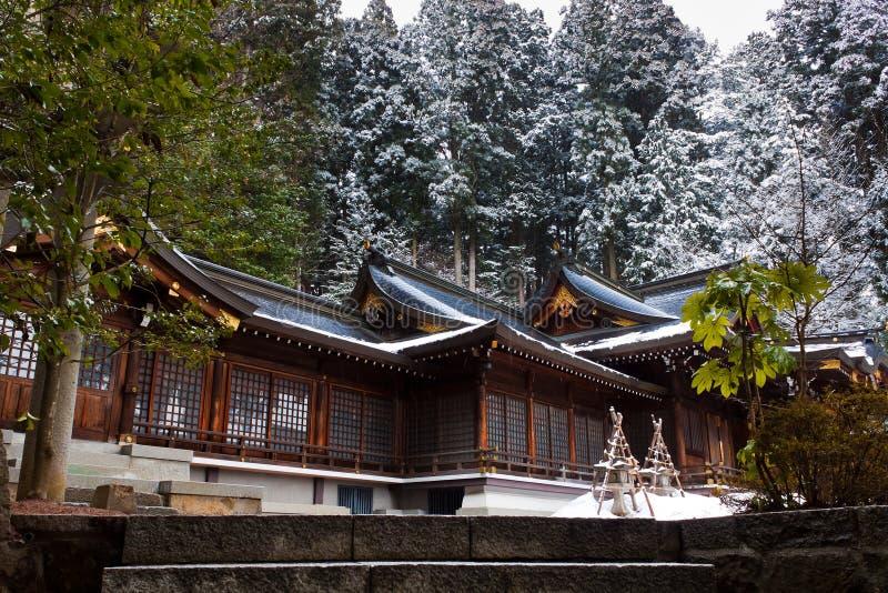 Santuario di hachimangu di Sakurayama fotografie stock