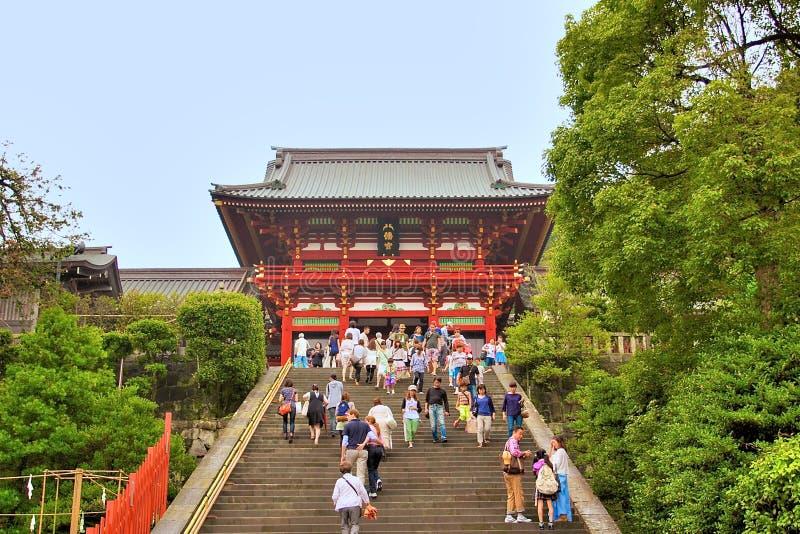 Santuario di Hachimangu, Giappone fotografie stock
