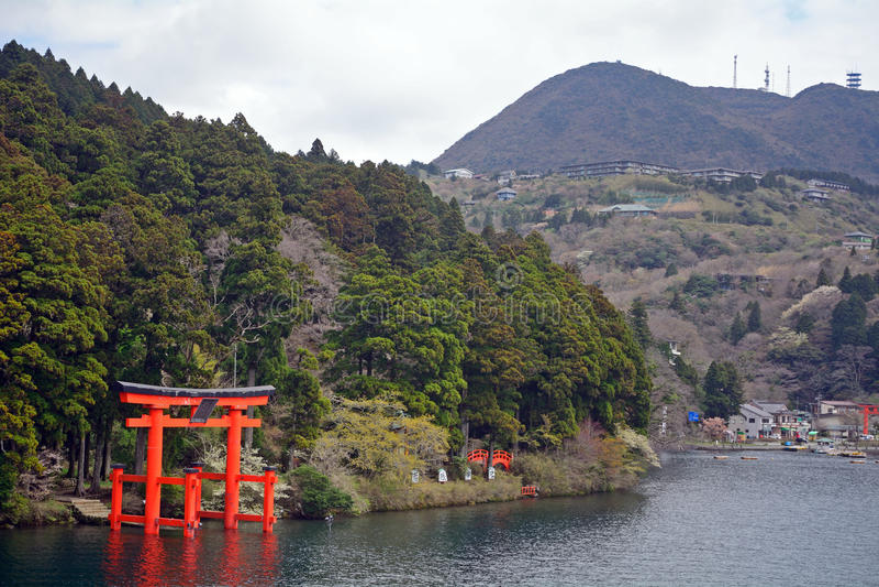 Santuario di Hakone, Hakone, Giappone immagine stock libera da diritti