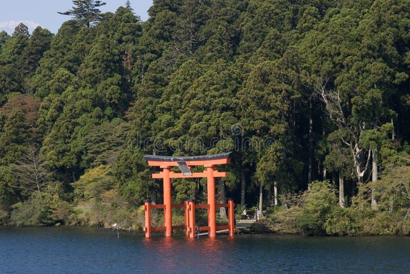 Santuario di Hakone, parco nazionale diFuji-Hakone-Izu, Giappone fotografia stock