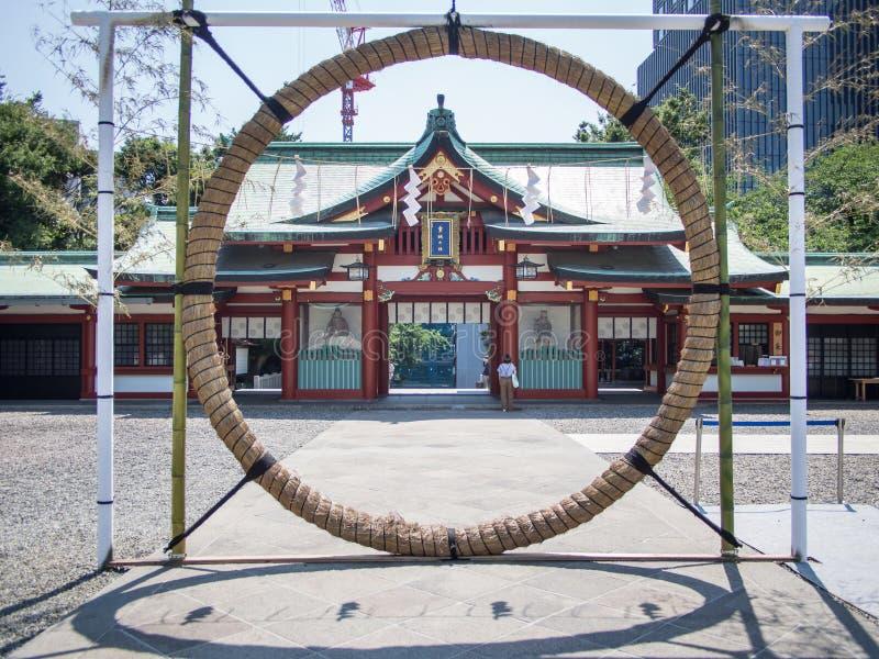 Santuario di Hie Jinja, Tokyo, Giappone fotografia stock libera da diritti