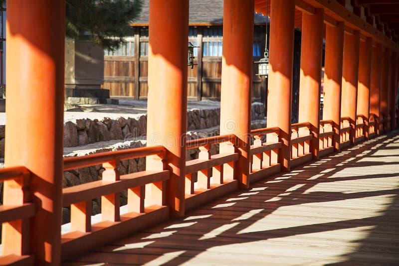 Santuario di Itsukushima all'isola di Miyajima, Giappone fotografia stock