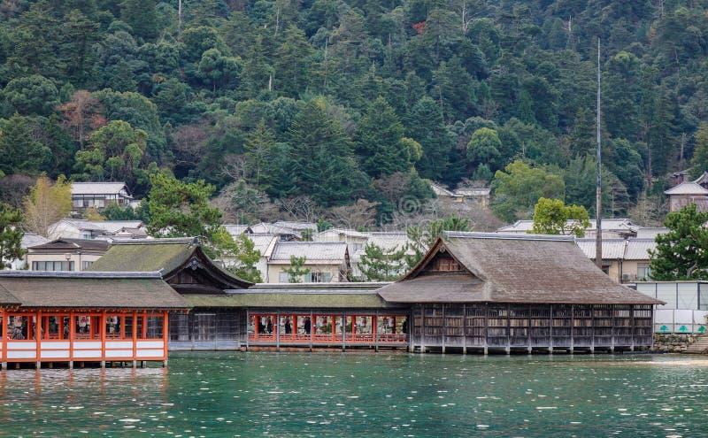 Santuario di Itsukushima a Hiroshima, Giappone immagini stock libere da diritti