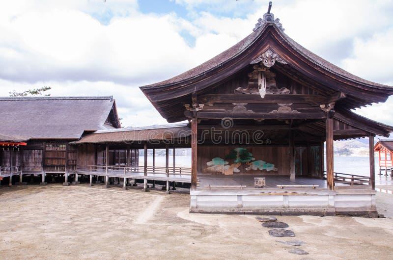 Santuario di Itsukushima a Miyajima, Giappone immagini stock libere da diritti