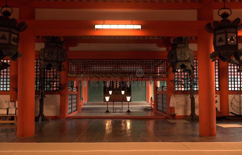 Santuario di Itsukushima, Miyajima, Giappone fotografie stock