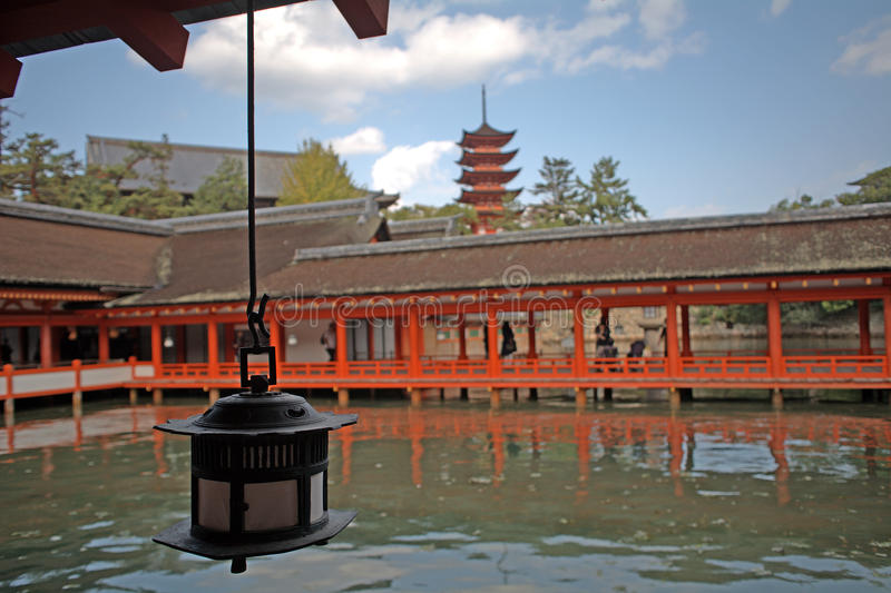 Santuario di Itsukushima, Miyajima, Giappone immagine stock libera da diritti