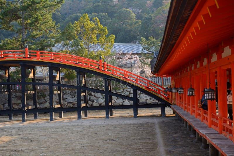 Santuario di Itsukushima, Miyajima, Giappone fotografia stock
