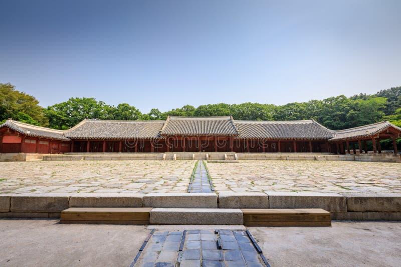 Santuario di Jongmyo il 17 giugno 2017 nella città di Seoul, Corea - mondo Heri immagini stock libere da diritti
