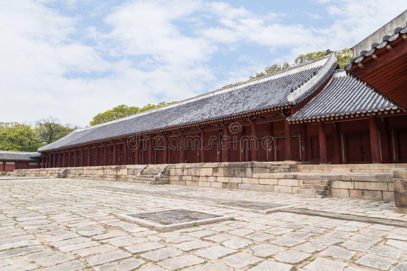 Santuario di Jongmyo a Seoul immagini stock libere da diritti