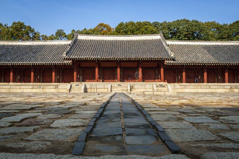 Santuario di Jongmyo a Seoul, Corea fotografia stock libera da diritti