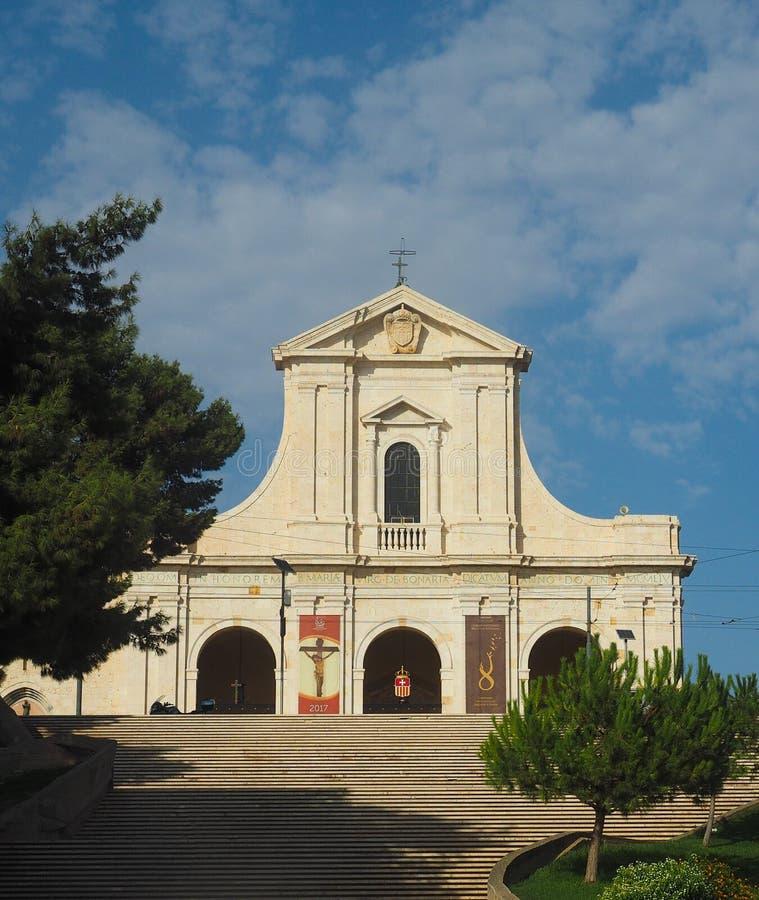 Santuario Di Nostra Signora di Bonaria w Cagliari (świątynia Nasz dama Bonaria) fotografia stock