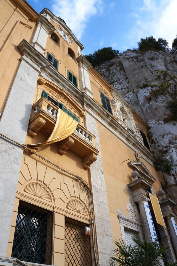 Santuario di Rosalia del san di Palermo in Sicilia immagine stock libera da diritti