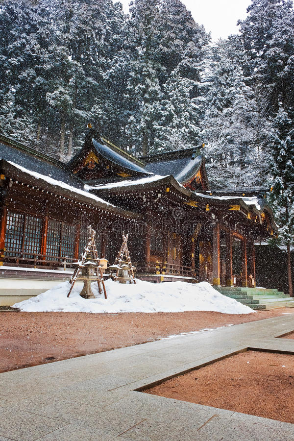 Santuario di Sakurayama Hachimangu, Hida, Takayama, Giappone immagini stock