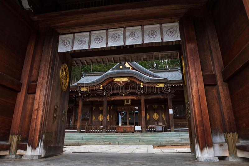 Santuario di Sakurayama Hachimangu in Takayama fotografia stock libera da diritti