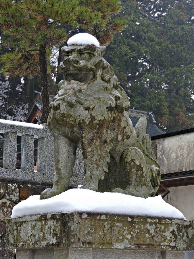 Santuario di Sakurayama Hachimangu, Takayama, Giappone fotografia stock libera da diritti