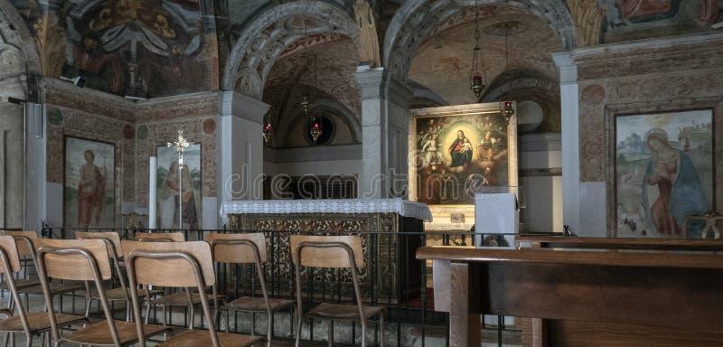 Santuario di Santa Maria alla Fontana a Milano immagini stock