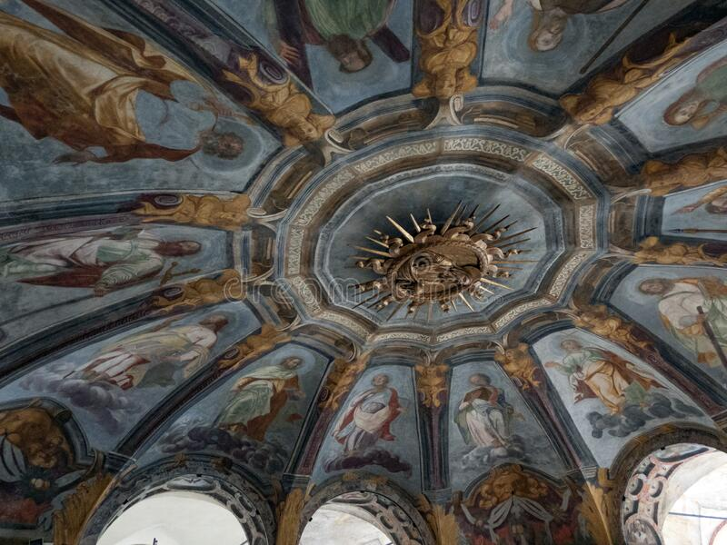 Santuario di Santa Maria alla Fontana a Milano immagine stock