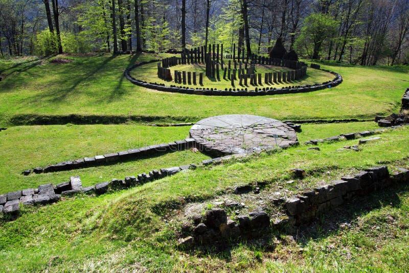 Santuario di Sarmizegetusa Regia fotografia stock libera da diritti