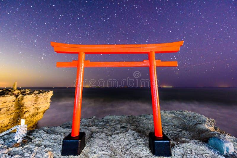 Santuario di Shirahama, Giappone fotografia stock
