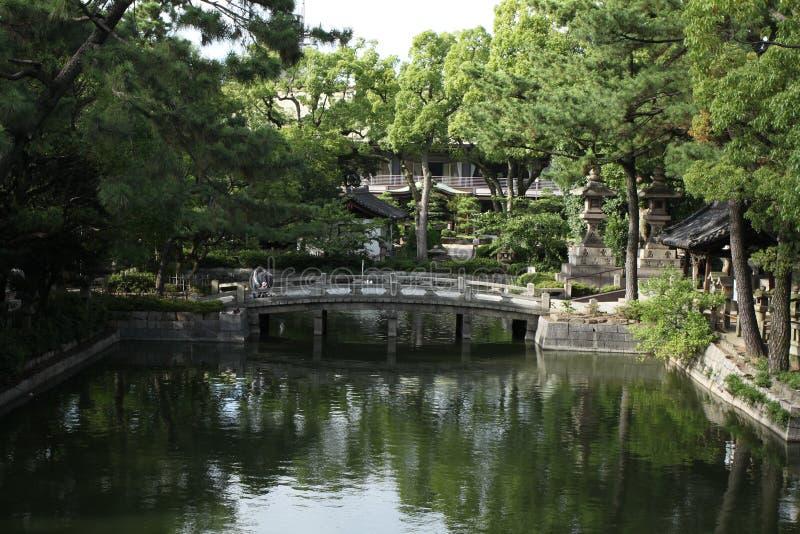 Santuario di Sumiyoshi fotografie stock libere da diritti