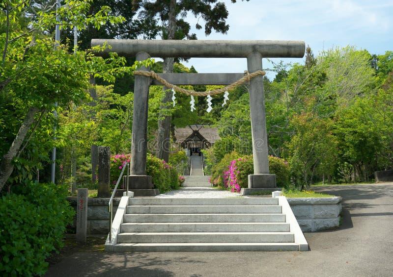 Santuario di Takabe nella prefettura di Chiba, Giappone Il solo santuario shintoista nella cottura e nel kitch d'adorazione del G fotografia stock