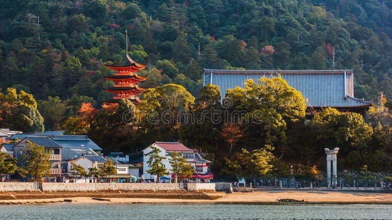 Santuario di Toyokuni a Miyajima immagini stock