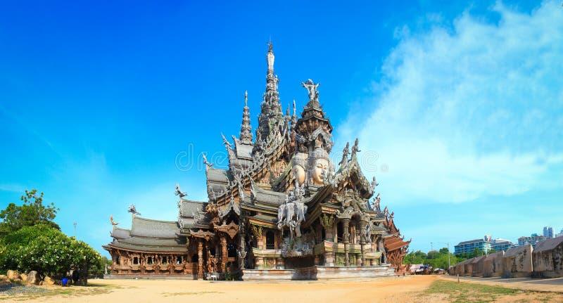 Santuario di verità in Chonburi thailan fotografia stock libera da diritti