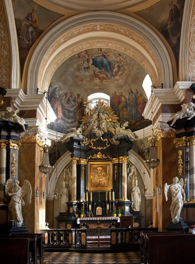 Santuario domenicano della chiesa - Cracovia - Polonia immagini stock libere da diritti