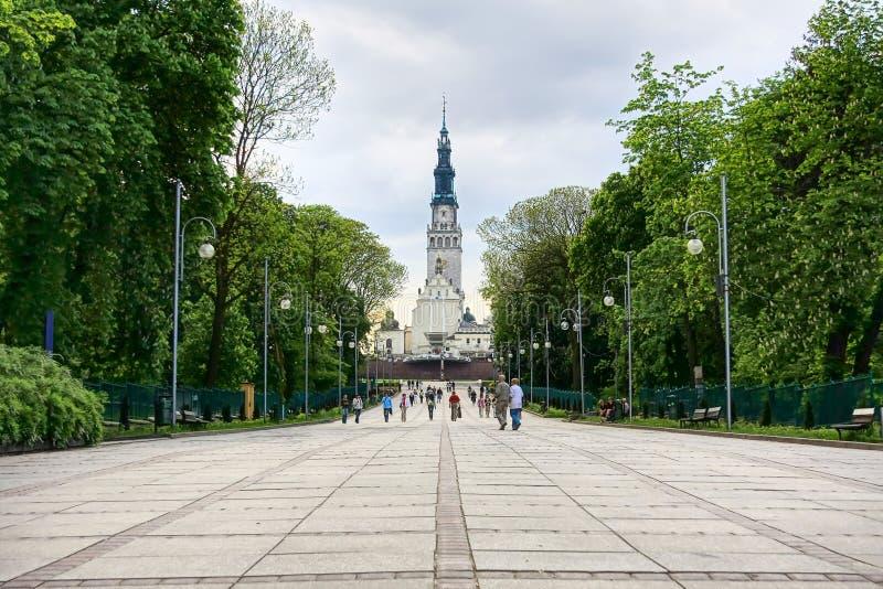 Santuario en Czestochowa foto de archivo libre de regalías