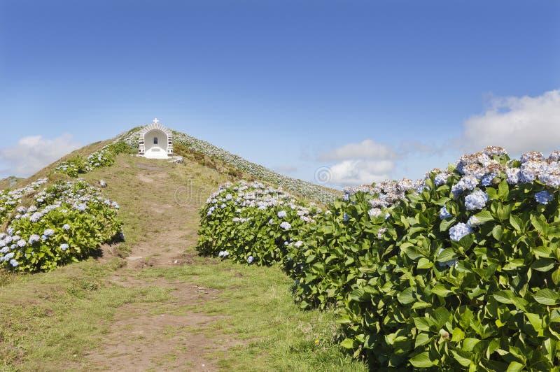 Santuario in Faial, Azzorre immagine stock libera da diritti