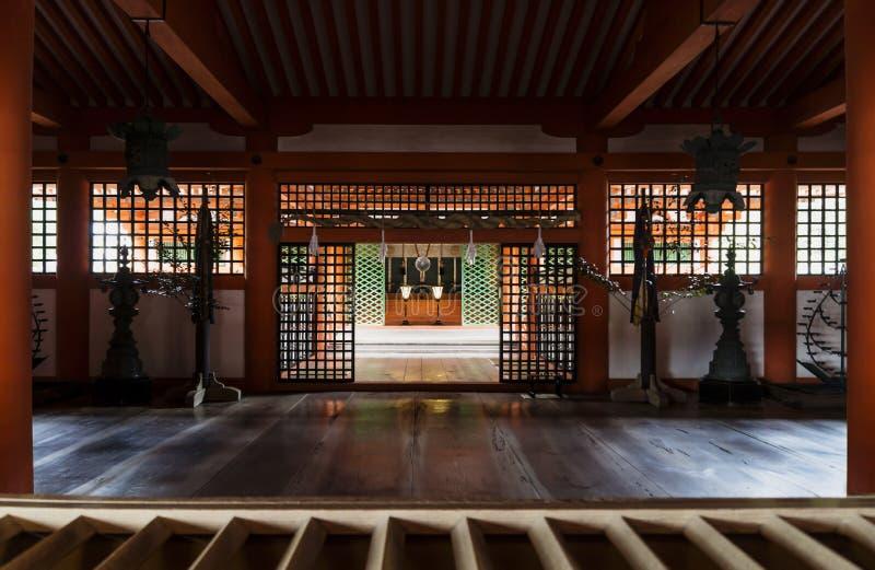 Santuario a Itsukushima, Miyajima, Giappone immagini stock