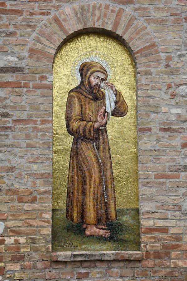 Santuario Madonna del esplendor en Giulianova fotos de archivo
