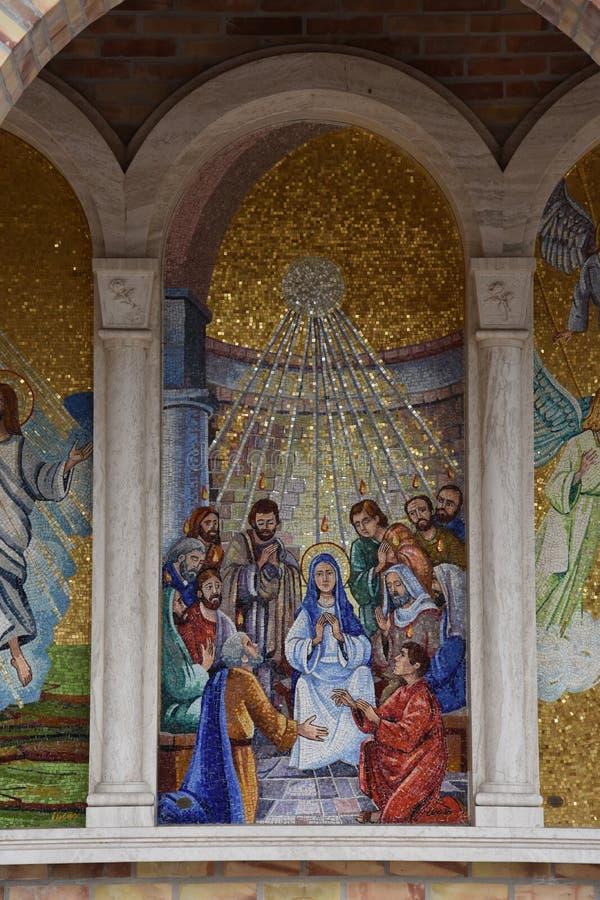 Santuario Madonna del esplendor en Giulianova imagen de archivo libre de regalías