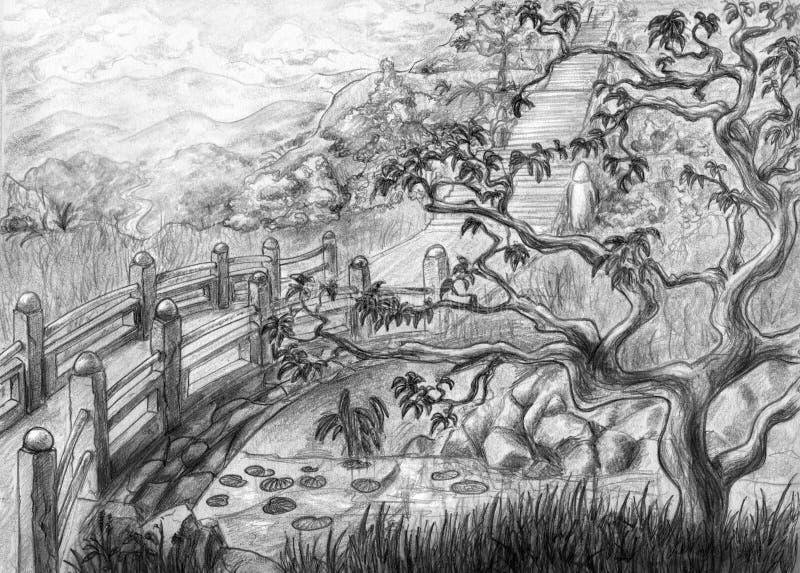 Santuario nascosto illustrazione di stock