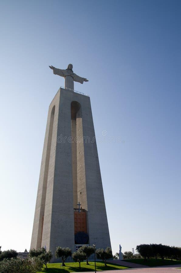 Santuario nazionale di Cristo Re di Almada fotografie stock libere da diritti