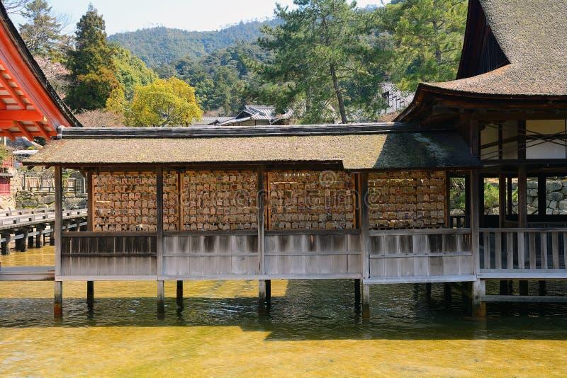 Santuario shintoista di Itsukushima, Miyajima, Giappone fotografie stock libere da diritti