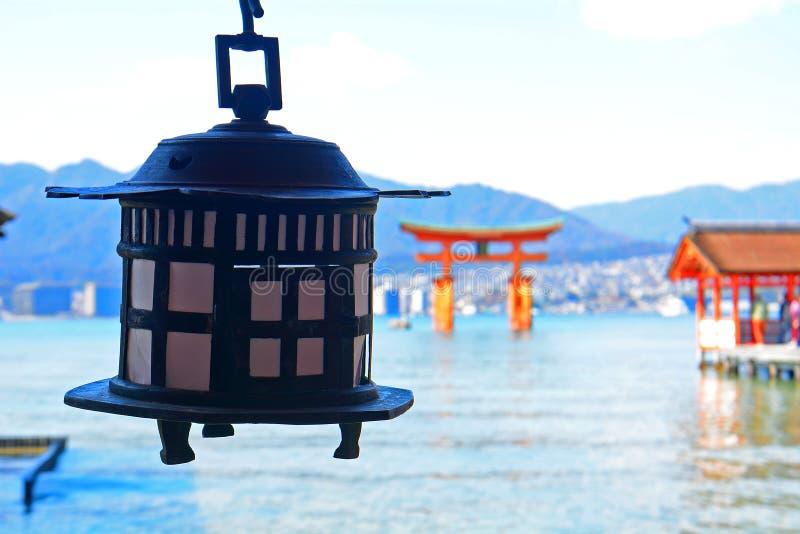 Santuario shintoista di Itsukushima, Miyajima, Giappone fotografie stock