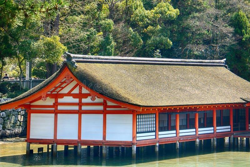 Santuario shintoista di Itsukushima, Miyajima, Giappone immagine stock