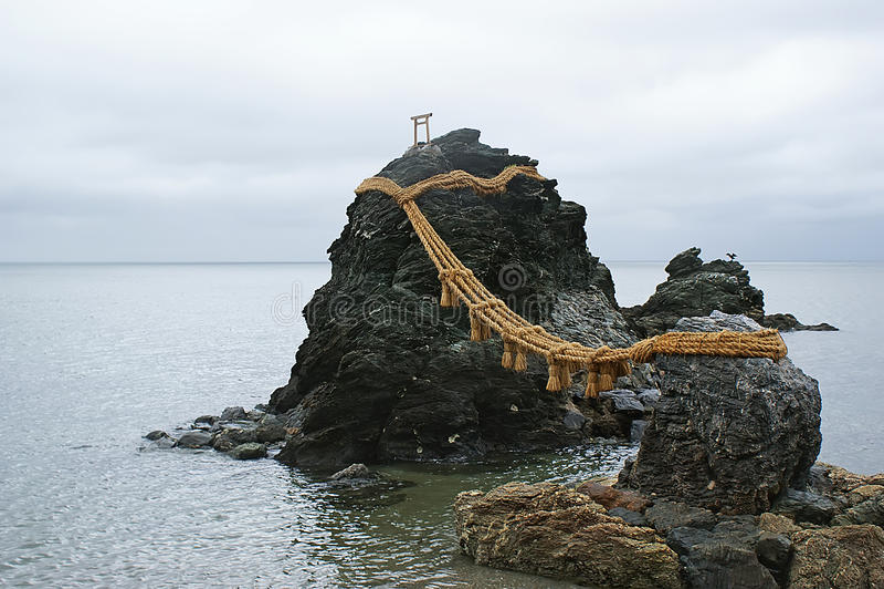 Santuario shintoista a Ise, Giappone fotografie stock libere da diritti