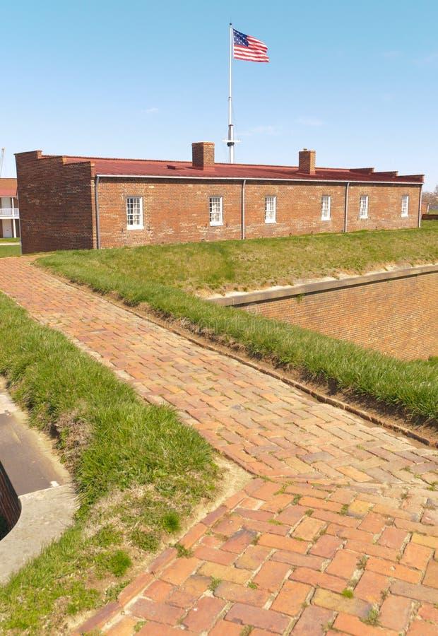 Santuario storico del monumento nazionale di McHenry della fortificazione fotografia stock libera da diritti