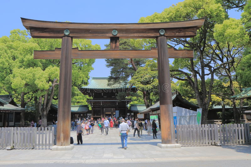 Santuario Tokyo Giappone di Meiji fotografia stock
