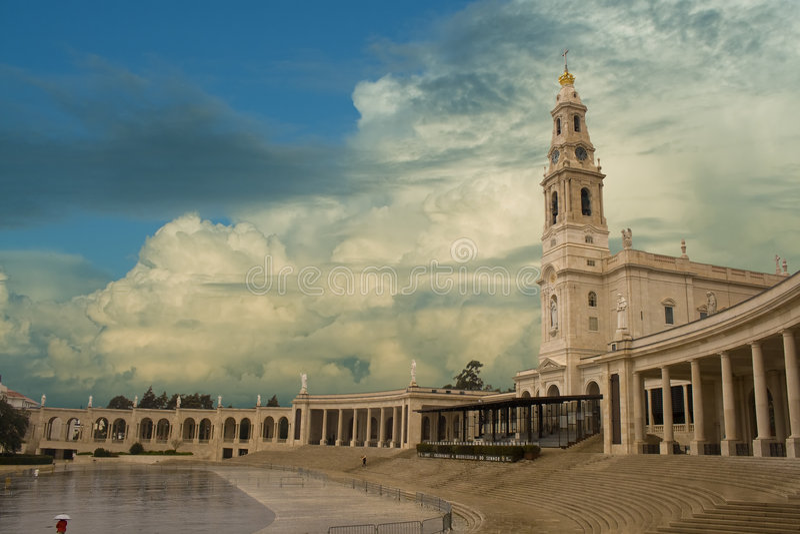 Santuary de Fatima imagem de stock
