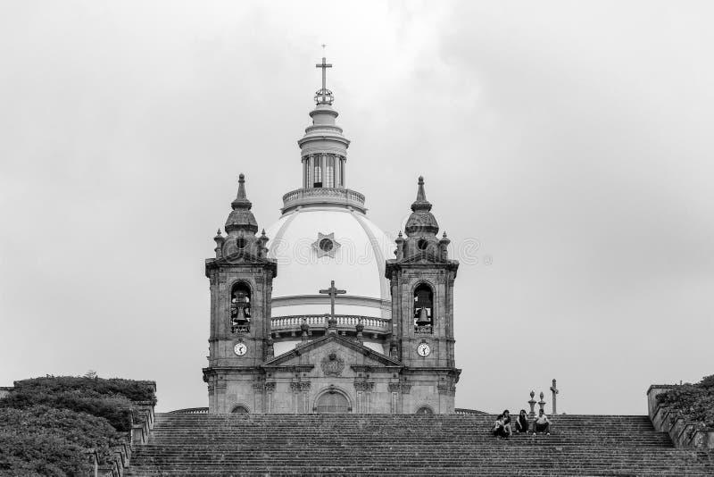 Santuary van Onze Dame van Sameiro, Braga, Portugal stock afbeeldingen