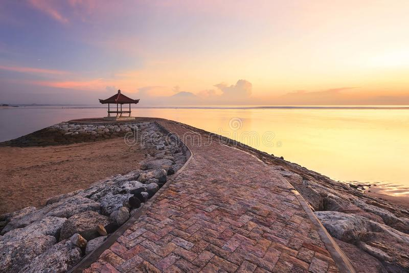 Sanur-Strand Bali, Indonesien stockfoto