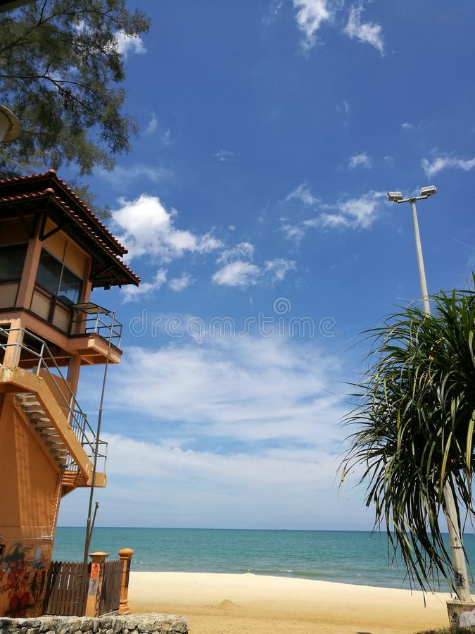 Sanur strand, Bali, Indonesien royaltyfri bild